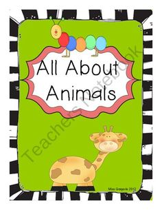 All About Animals Science Unit product from Tales-From-A-First-Grade-Teacher on TeachersNotebook.com