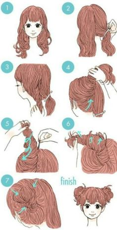 New hairstyles long tutorials coiffures ideas Neue Frisuren lange Tutorials Frisuren Ideen Cute Simple Hairstyles, Trendy Hairstyles, Braided Hairstyles, Kawaii Hairstyles, Hair Looks, New Hair, Curly Hair Styles, Hair Beauty, Long Hair Tutorials
