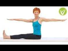 Spine Twist Pilates Exercise - Adrianne Crawford - YouTube