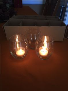 Mini Hurricane Elegant Clear Votive Holder with a clear votive candle!  (60 in stock)- Classy and elegant!