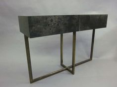 Extraordinary French Console / Sofa Table by Jacques Quinet   From a unique collection of antique and modern console tables at https://www.1stdibs.com/furniture/tables/console-tables/