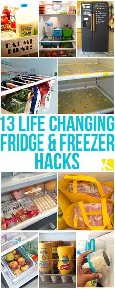 Life Changing Fridge and Freezer Hacks 13 Life Changing Fridge and Freezer Hacks. Reduce waste, save money and time. No coupons Life Changing Fridge and Freezer Hacks. Reduce waste, save money and time. No coupons needed! Organisation Hacks, Recipe Organization, Kitchen Organization, Storage Organization, Refrigerator Organization, Food Storage, Fridge Shelves, Fridge Storage, Household Organization
