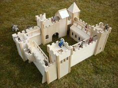 Ritterburg selbst gebaut – schleich dich, Papo!   Zwergkaninchen Blog