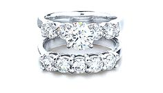 Diamond rings - Platinum diamond semi mount (top)br.76cts $2,775*  br /(#DSMTR16326)brbr Platinum diamond band br1.00cts $2,500  br /(#DBPRG07420)brbrfont size=1*center stone sold separately/font