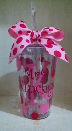 The Funky Monkey Giveaway: Two 16 oz. Personalized Tumblers from Cute & Jazzy Designs! Giveaway ends 10/8/13