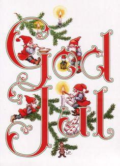 God Jul by Lars Carlsson Sweden Christmas, Norwegian Christmas, Danish Christmas, Christmas Gnome, Scandinavian Christmas, Christmas Art, Christmas Greetings, All Things Christmas, Christmas Holidays