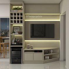 New Living Room, Living Room Decor, Bar Sala, Tv Nook, Home Bar Decor, Home Tv, Apartment Living, Living Room Designs, Sweet Home