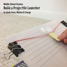 Turn a textbook into a projectile launcher and use it to study force, motion, and energy.⠀Also great for STEM challenges and studying experimental design. Sign up for free instructions and full video demonstration of this activity