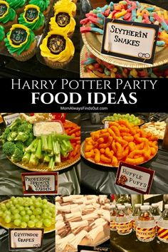 Are you planning a Harry Potter party? You'll want to check out this magical sel… Are you planning a Harry Potter party? You'll want to check out this magical selection of our favorite Harry Potter birthday party food ideas! Harry Potter Snacks, Baby Harry Potter, Baby Shower Harry Potter, Harry Potter Motto Party, Harry Potter Fiesta, Harry Potter Halloween Party, Harry Potter Christmas, Harry Potter Birthday Cake, Harry Potter Theme Food