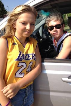 Well she doesn't seem too happy to meet Niall. I would have a huge smile on my face and I would probably look retarded.