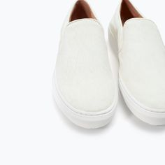 Image 4 of LEATHER AND FUR SLIP-ONS from Zara