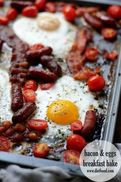 Bacon and Eggs Breakfast Bake