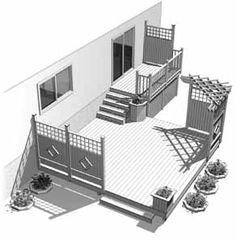 Aménagement de patio en bois traité Serin Hirondelle