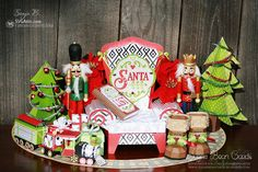SVG Attic Blog: Visiting Santa collection of 3D paper projects #svgattic #svg