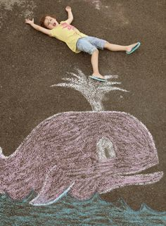Sidewalk Chalk Photos - whale!