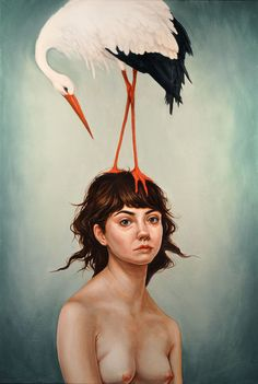 """Dorielle Caimi; Oil, 2011, Painting """"'The Weight'"""""""