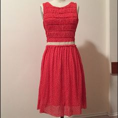 "Anthropologie ""postmark"" swiss dot dress XS Gently used, like new Anthropologie Dresses Midi"