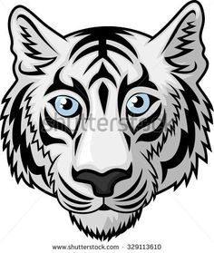 615bab9f2993a Hand drawn Tiger head Tattoo.psychedelic tiger isolated Vector .
