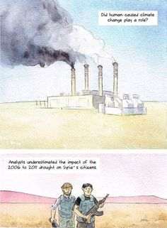 Syria's climate-fueled conflict, in one stunning comic strip