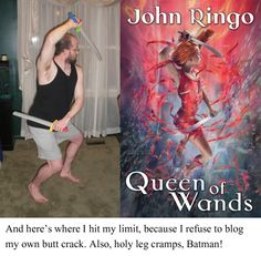 "Author Jim C. Hines ""Striking a Pose"" showing the ridiculous (and painful) contortions of females on fantasy book covers."