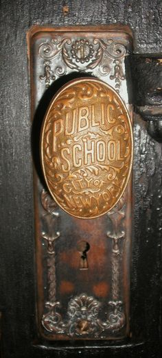 fabulous is this Vintage New York Public School Door Knob? As our gram would say, they just don't make 'em like they use to!How fabulous is this Vintage New York Public School Door Knob? As our gram would say, they just don't make 'em like they use to! Old Door Knobs, Door Knobs And Knockers, Knobs And Handles, Door Handles, Vintage Door Knobs, Vintage Doors, Old Doors, Windows And Doors, School Doors