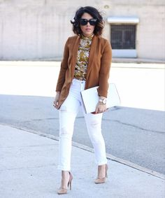 White Jeans Outfit Ideas | POPSUGAR Fashion