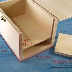 Secret Compartment Box, Secret Compartment Furniture, Hidden Compartments, Secret Storage, Hidden Storage, Storage Boxes, Woodworking Box, Woodworking Projects, Wooden Puzzle Box