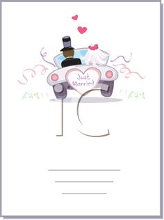 iCLIPART - Illustration of a Wedding Car Driving Away