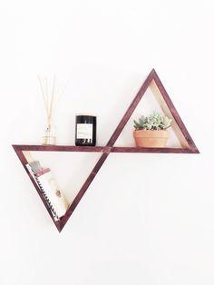 Triangle Wall Shelves - wood wall art