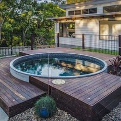 36 new Ideas for backyard ideas for small yards spa plunge pool Small Backyard Pools, Small Pools, Backyard Patio Designs, Backyard Ideas, Stock Pools, Stock Tank Pool, Spa Design, Design Ideas, Garden Design
