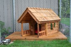 Dog house with porch from Mark's gazebos Dog House With Porch, Gazebo, Dog Tumblr, Dog House Plans, Pet Furniture, Dog Runs, Pet Home, Animal House, Dog Houses