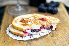 Blackberry and Brie Grilled Cheese Sandwich Recipe from Cooking Divine. An upscale grilled cheese sandwich with a salty sweet combination.