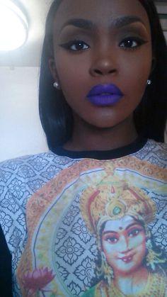 blue lipstick on dark skin Flawless Face, Flawless Makeup, Love Makeup, Beauty Makeup, Makeup Looks, Gorgeous Makeup, Makeup Salon, Makeup Studio, Dress Makeup