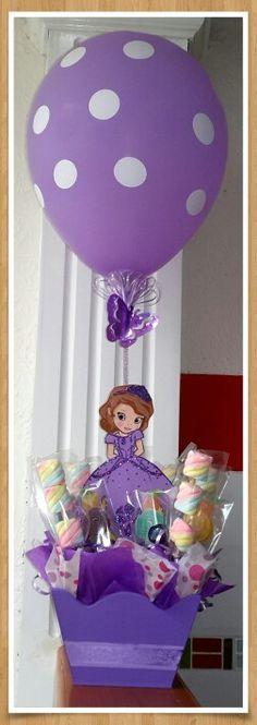 Centro de mesa princesita Sofia