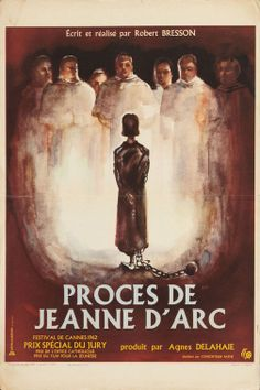 The French poster forThe Trial of Joan of Arc (Robert Bresson, France).