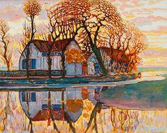 Piet Mondrian Dutch, 1872–1944. Farm near Duivendrecht, c. 1916. Oil on canvas