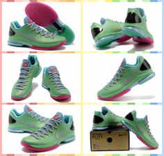 Nike Zoom Kevin Durant\u0026#39;s KD V Elite Low #Basketball #Shoes Green Grey
