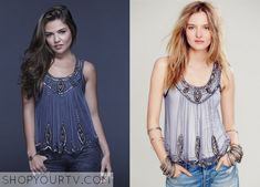 Davina Claire (Danielle Campbell) wears this beaded chiffon tank in this promotional photo for season 2 of The Originals. It is the Free People Star Gazer Tank. Buy it HERE for $78 All Outfits from The Originals Other Outfits from … Continue reading →