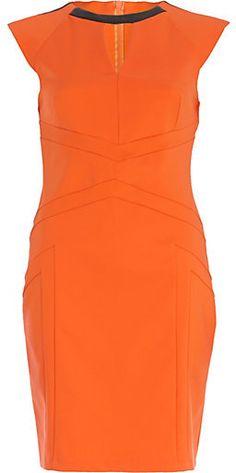 River Island Womens Orange panelled pencil dress on shopstyle.com.au