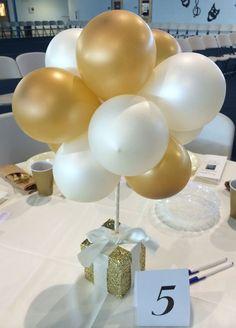 Resultado de imagen para balloon topiary centerpieces for men Topiary Centerpieces, Birthday Party Centerpieces, 50th Party, 60th Birthday Party, Gold Party, Quinceanera Centerpieces, Wedding Centerpieces, Balloon Table Centerpieces, Anniversary Centerpieces