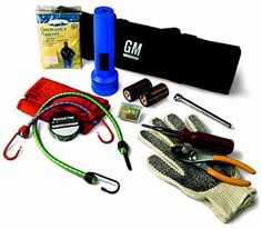 This Highway Emergency Kit includes items that help you keep safe and get you back on the road Items include a rain poncho gloves Need Help Banner flashlight fuse kit bungee cord electrical tape pliers rag screwdriver booster cables and first aid kit 2016 Silverado, Silverado 3500, Chevrolet Traverse, Chevrolet Suburban, 2016 Tahoe, Chevy Vehicles, Crossover Cars, Tyre Gauge, Tire Pressure Gauge