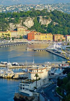 Port in Nice, France - Europe.