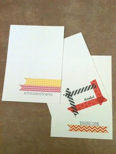 Simple quick cards with Washi tape.