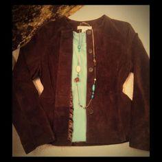 Fall Hp Suede Jacket Dress Blazer 8 8p M Coat