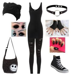 """""""Untitled #237"""" by shadow-cheshire ❤ liked on Polyvore featuring Parisian, Converse, Splendid and Disney"""