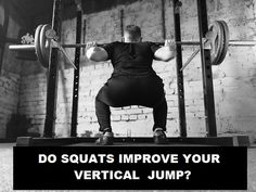 How to improve your vertical jump. Do Squats! It is one weight lifting exercise that stands out among the rest. It has many other benefits too. How To Do Squats, How To Squat Properly, What Do Squats Work, Push Pull Legs Workout, Best Leg Workout, Nerd Fitness, Health Fitness, Muscle Fitness, Workout Splits