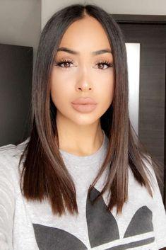 Brunette Woman, Brunette Hair, Brunette Makeup, Brunette Glasses, Haircuts For Long Hair, Straight Hairstyles, Medium Hair Styles, Short Hair Styles, Chestnut Hair