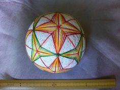 "Temari Lecture 137. How to make a Temari ""Flower of Summer""."