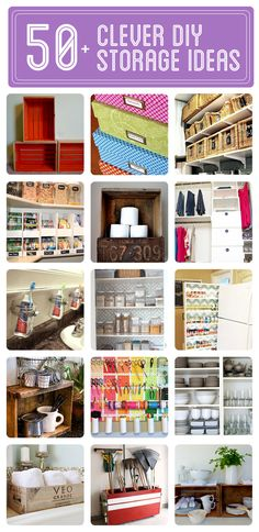 50+ Clever DIY Storage & Organization Ideas - Click to see them all!