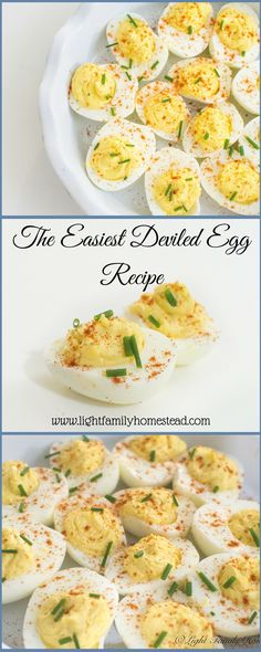 The Easiest Deviled Eggs Recipe-This deviled egg recipe is so simple to make. It's great for any party or just for a snack. With the festive colors these deviled eggs are perfect for the holidays. www.lightfamilyhomestead.com #deviledeggs #eggs #deviledeggsrecipe #appetizer #appetizers #partyfood #holidayrecipes #snacks #easyrecipe